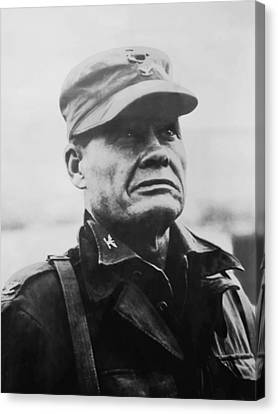 Chesty Puller Canvas Print by War Is Hell Store
