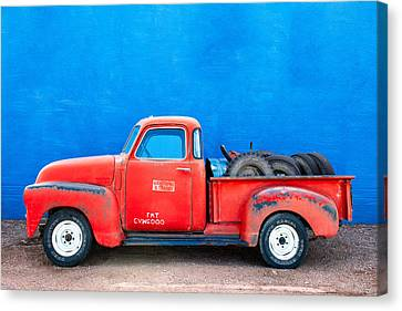 Chevy Classic Canvas Print by Todd Klassy