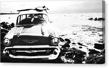 Chevy On The Rocks Canvas Print by Ron Regalado
