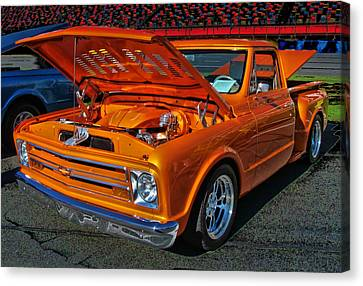 Chevy Stepside Canvas Print by Victor Montgomery