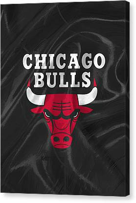 Dunk Canvas Print - Chicago Bulls by Afterdarkness