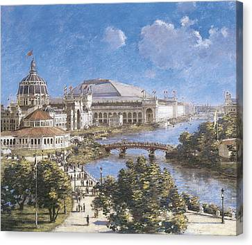 City Scape Canvas Print - Chicago Columbian Exposition by Theodore Robinson