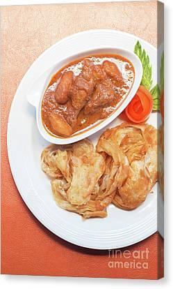 Canvas Print featuring the photograph Chicken Massaman Curry by Atiketta Sangasaeng