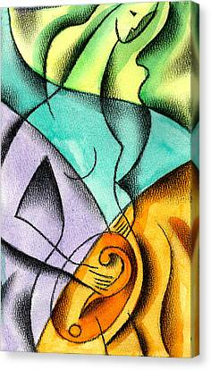 Childbirth Canvas Print by Leon Zernitsky