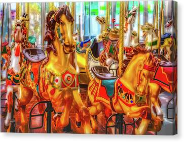 Childhood Carrousel Ride Canvas Print by Garry Gay