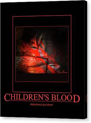 Children's Blood Canvas Print by Karo Evans