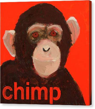 Chimpanzee Canvas Print by Laurie Breen