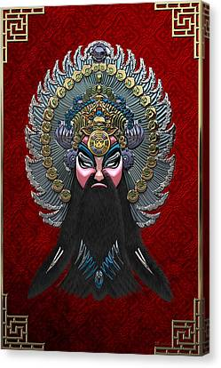 Chinese Masks - Large Masks Series - The Emperor Canvas Print by Serge Averbukh