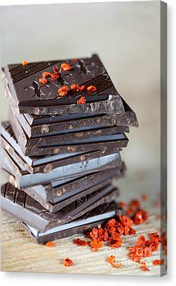 Chocolate And Chili Canvas Print by Nailia Schwarz