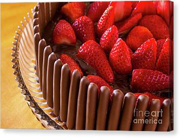 Bakery Canvas Print - Chocolate And Strawberry Cake by Carlos Caetano