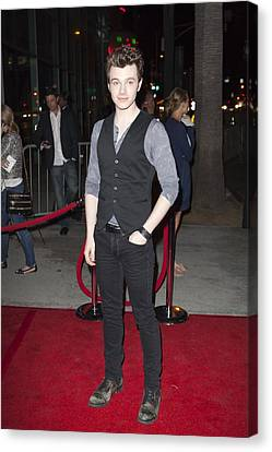 Chris Colfer At Arrivals For American Canvas Print by Everett