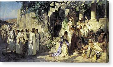 Christ And Sinner Canvas Print