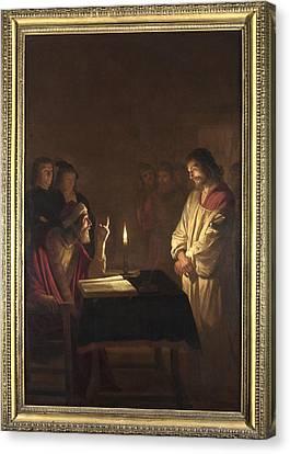 Christ Before The High Priest Canvas Print by Gerrit van Honthorst