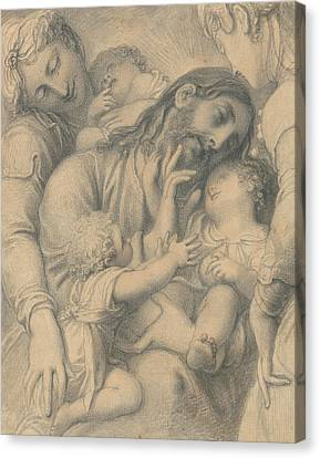 Child Jesus Canvas Print - Christ Blessing Little Children by Richard Cosway