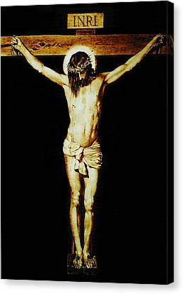 Christ On The Cross Canvas Print by Dino Muradian
