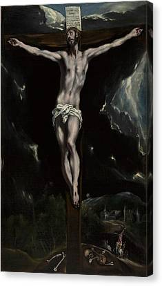 Christ On The Cross Canvas Print by El Greco
