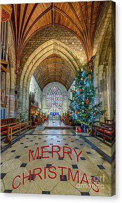 Christmas Church Canvas Print by Adrian Evans