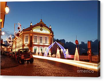 Christmas In Ribeira Grande Canvas Print by Gaspar Avila
