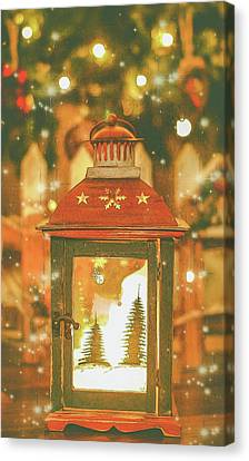 Christmas Lantern. Canvas Print by Angela Aird