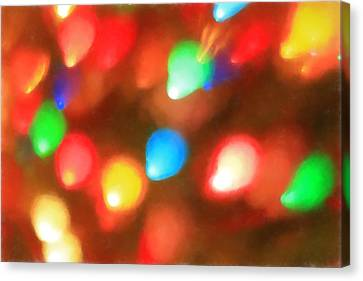 Christmas Lights Canvas Print by Dan Sproul