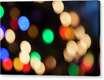 Canvas Print featuring the photograph Christmas Lights by Susan Stone