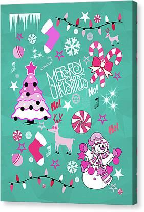 Pattern Canvas Print - Christmas by Mark Ashkenazi