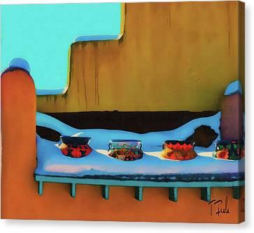 Christmas Morning Taos Canvas Print