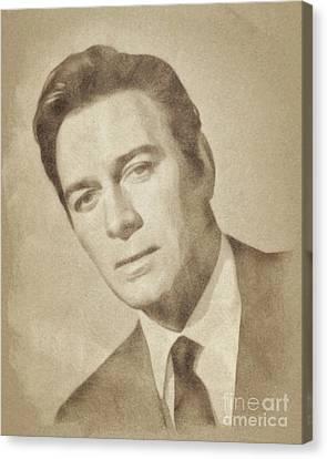 Christopher Plummer, Vintage Actor By John Springfield Canvas Print by John Springfield
