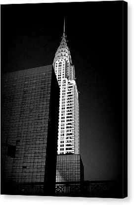 Canvas Print featuring the photograph Chrysler Noir by Linda Edgecomb