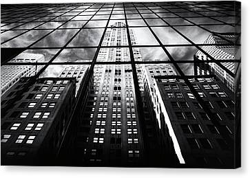 Canvas Print featuring the photograph Chrysler Reflections by Jessica Jenney