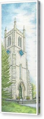 Church Clock Canvas Print
