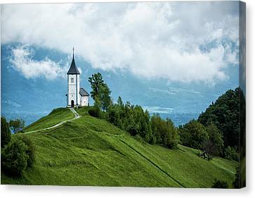The Church Of Saints Primus And Felician Canvas Print by Lindley Johnson