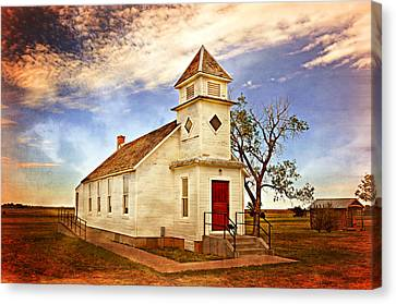Church On The Plains Canvas Print