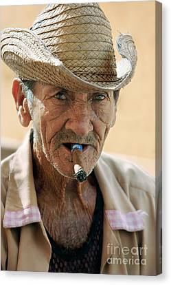 Cuba Canvas Print - Cigar Smoking - Trinidad - Cuba by Rod McLean