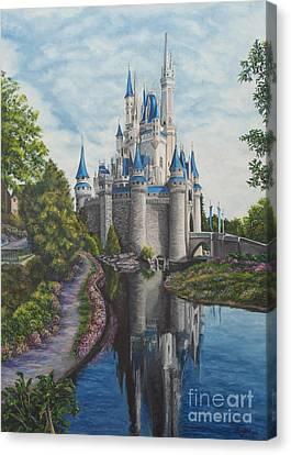 Cinderella Castle  Canvas Print by Charlotte Blanchard