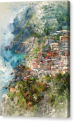 Cinque Terre In Italy Canvas Print by Brandon Bourdages