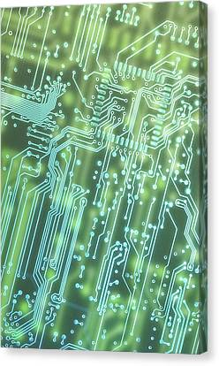 Component Canvas Print - Circuit Board by Carlos Caetano