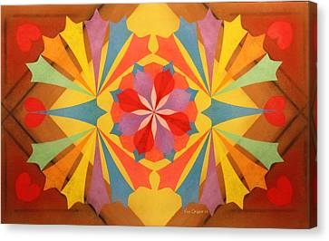 Brightness Of The Heart Canvas Print - Circus Of Color by Richard Van Order
