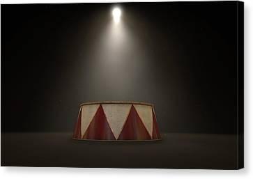 Circus Podium Spotlit Canvas Print by Allan Swart