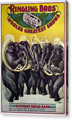 Tubist Canvas Print - Circus Poster, C1899 by Granger