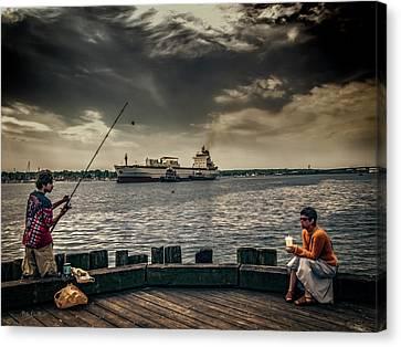 Canvas Print - City Fishing by Bob Orsillo