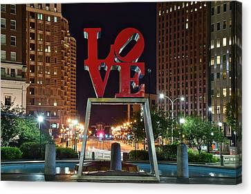 City Of Brotherly Love Canvas Print by Frozen in Time Fine Art Photography