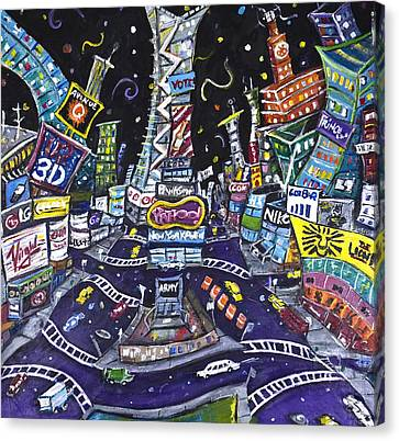 City Of Lights Canvas Print by Jason Gluskin