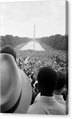 Civil Rights March On Washington D.c Canvas Print by Everett