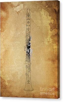Clarinet 21 Jazz B Canvas Print by Pablo Franchi