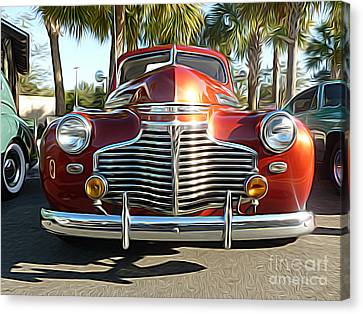 Classic Cars - 1941 Chevy Special Deluxe Business Coupe - Front End Canvas Print by Jason Freedman