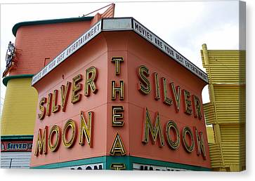 Silver Moon Drive In Canvas Print - Classic Drive In by David Lee Thompson
