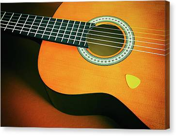 Canvas Print featuring the photograph Classic Guitar  by Carlos Caetano