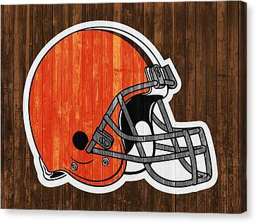 Cleveland Browns Barn Door Canvas Print by Dan Sproul
