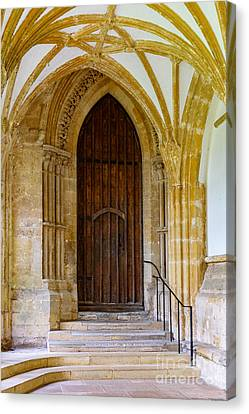 Canvas Print featuring the photograph Cloisters, Wells Cathedral by Colin Rayner